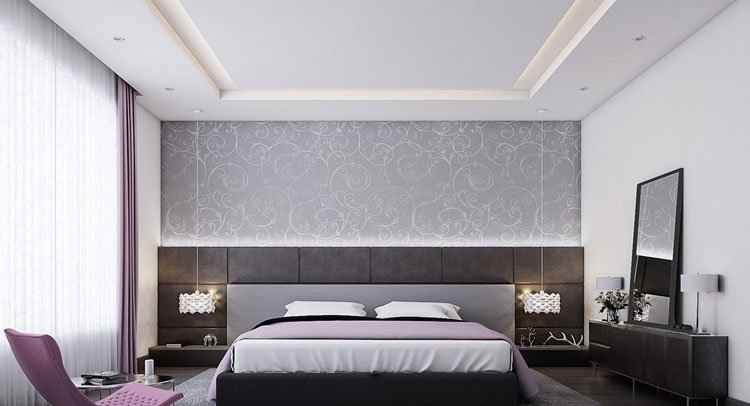 Chic Modern Grey Bedroom with Feminine Touch