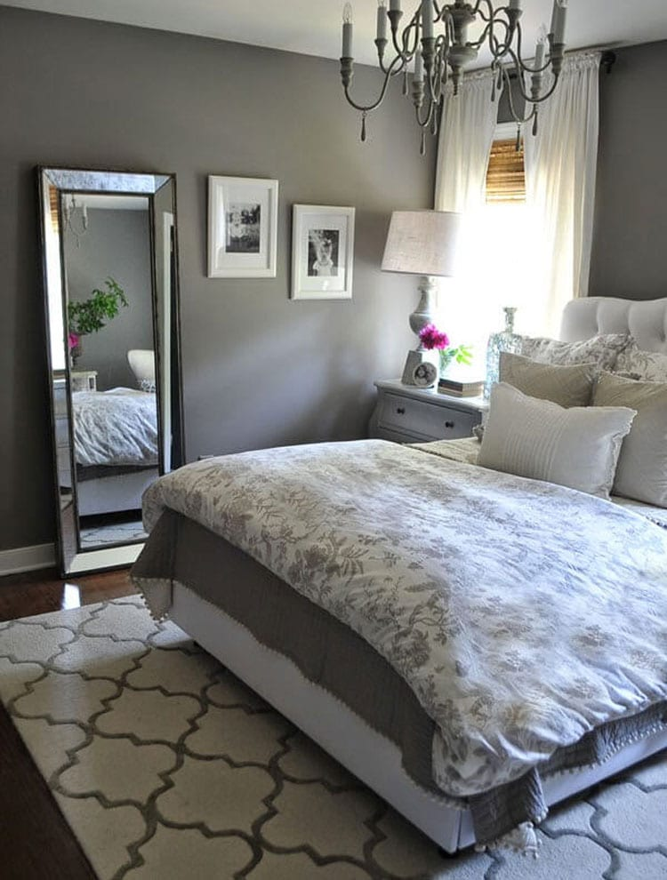 Country Chic Grey Bedroom