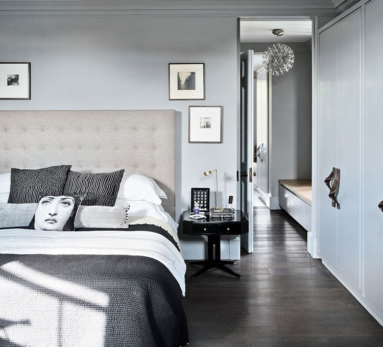 Dark and Light Grey Bedroom Design