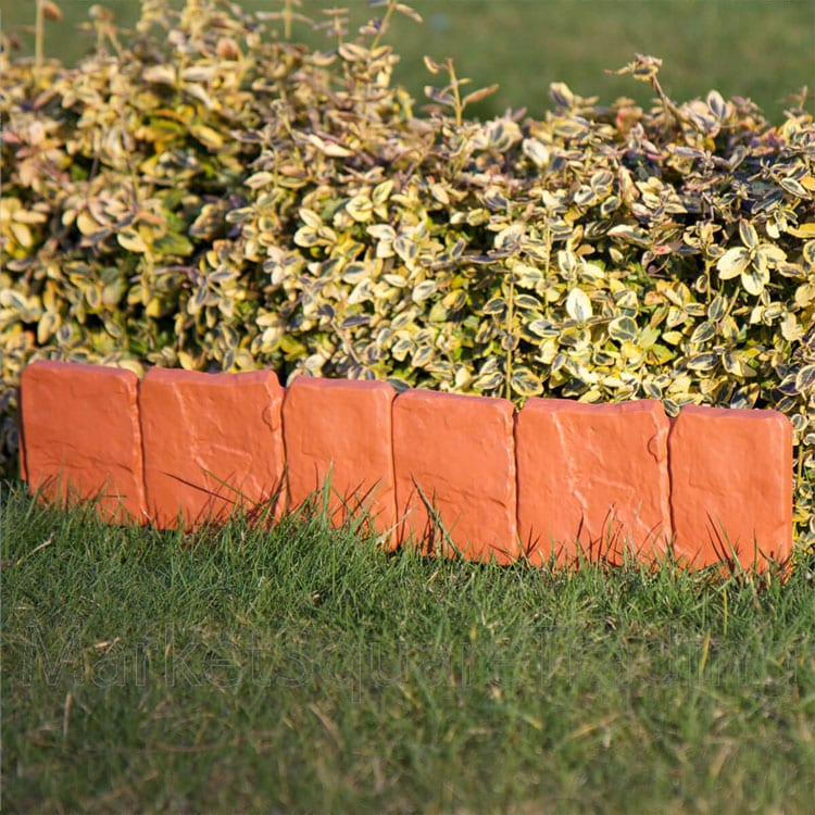 Finished Brick Short Garden Wall Border