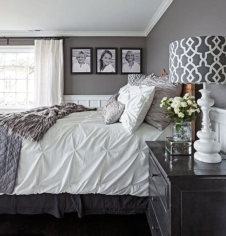 Glamorous Grey and Black Bedroom
