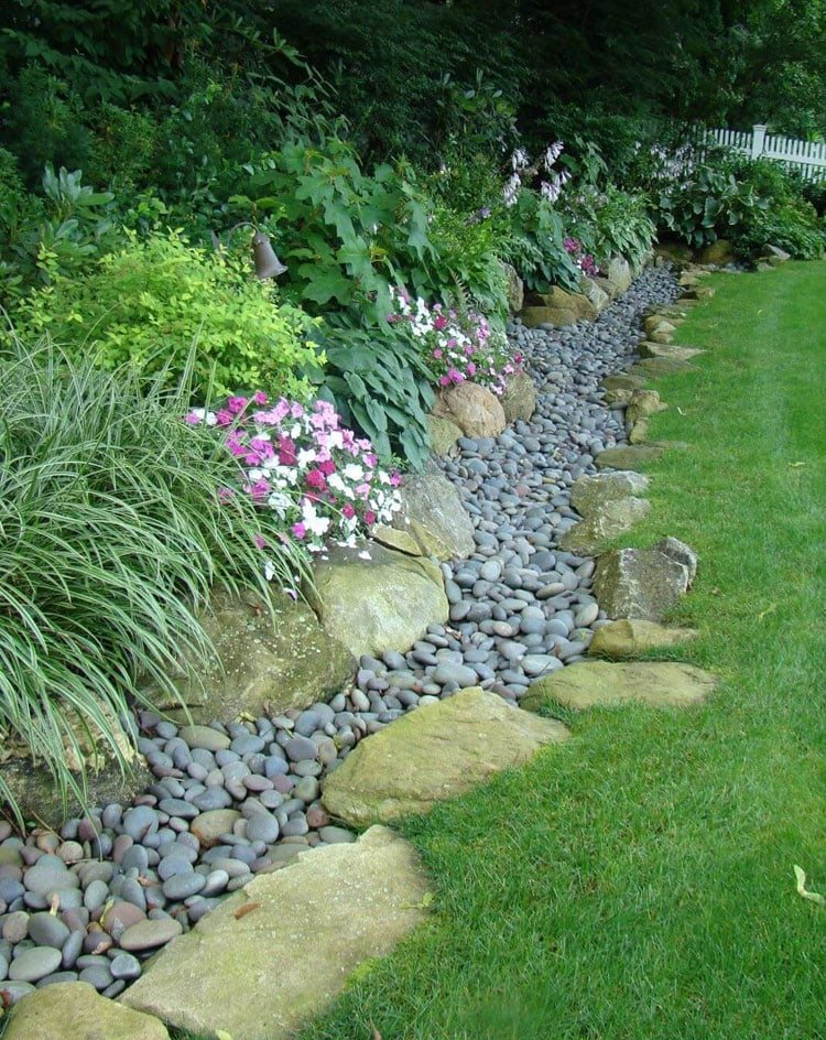 Landscape Edging Ideas with Rocks and Stones