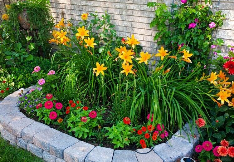Pretty Corner Flower Bed