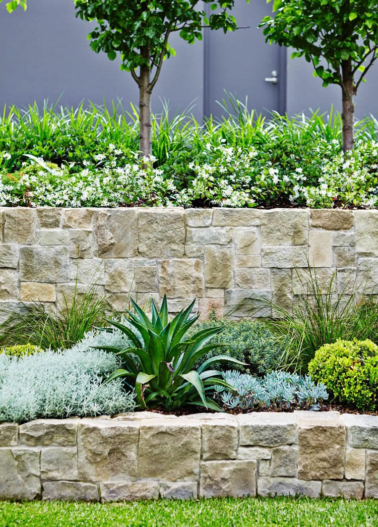 Rough Stone Garden Walls for a Luxury Landscape