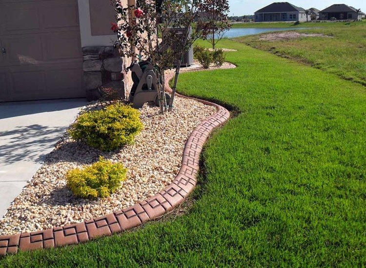 Unique Brick Designs Add Texture to Your Yard Edging