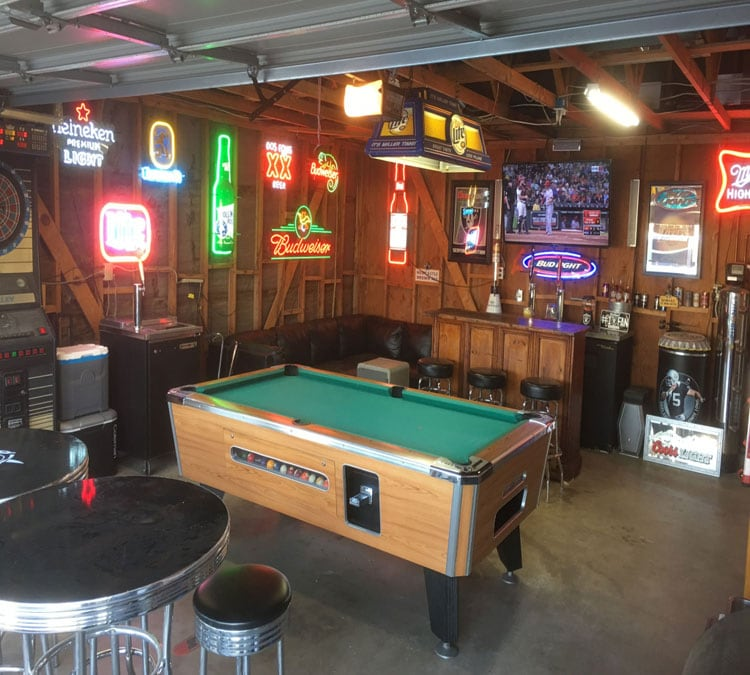 Badass Manly Garage Man Cave and Easy Bar