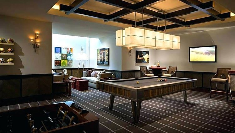 Basement Man Cave Decorating Ideas with Old School Design