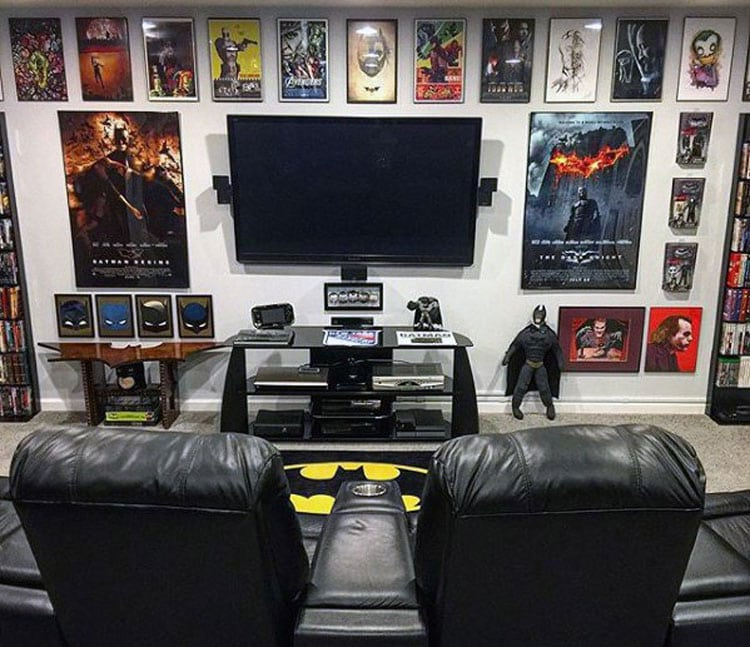 Batman Themed Video Game Room