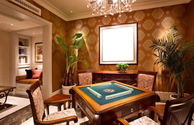 Classy Man Cave Ideas with Poker Table
