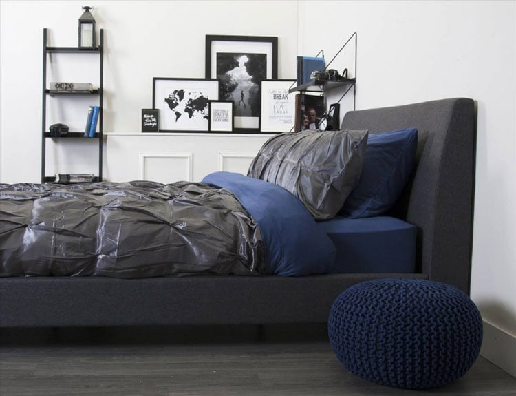 Cool Bedroom Ideas For Guys - Modern Male Bedroom with Faux Gallery Wall