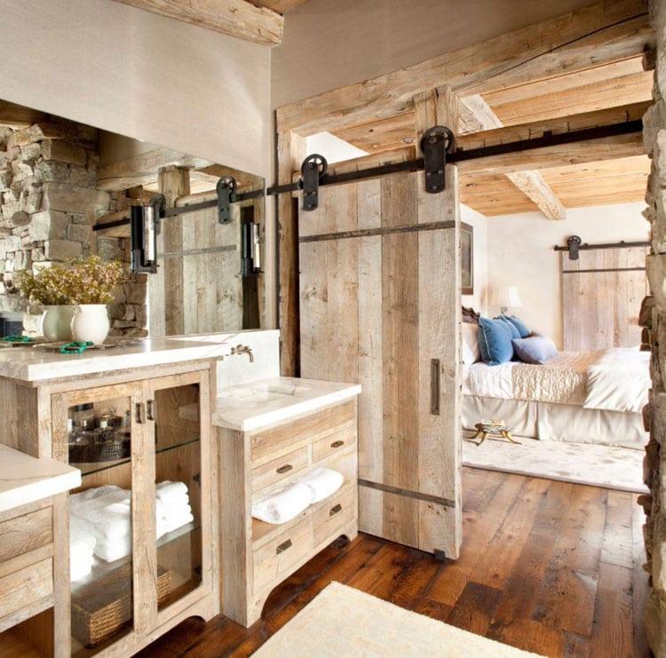Cool En-Suite Bathroom with Glam Rustic Details