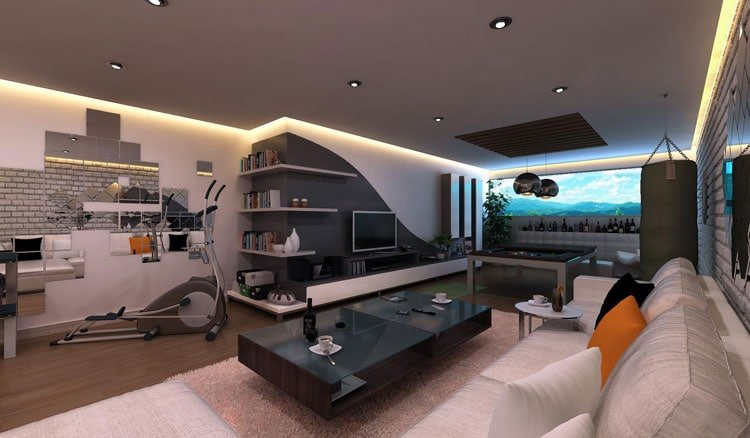 Cool Man Cave Game Room
