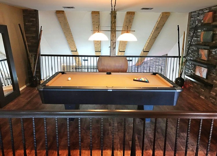 Cool Man Cave with Game Room Pool Table