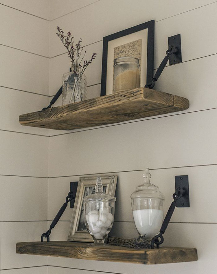 Cute Rustic Bathroom Shelves Ideas