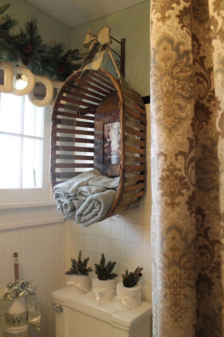 DIY Rustic Hanging Basket as Whimsical Shelf