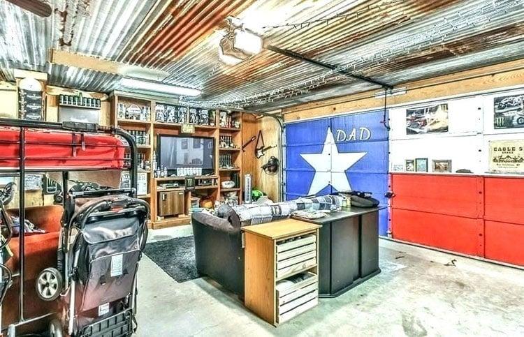 Easy Garage Man Cave Ideas