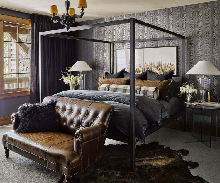 Elegant Men's Bedroom Design in Neutral Tones