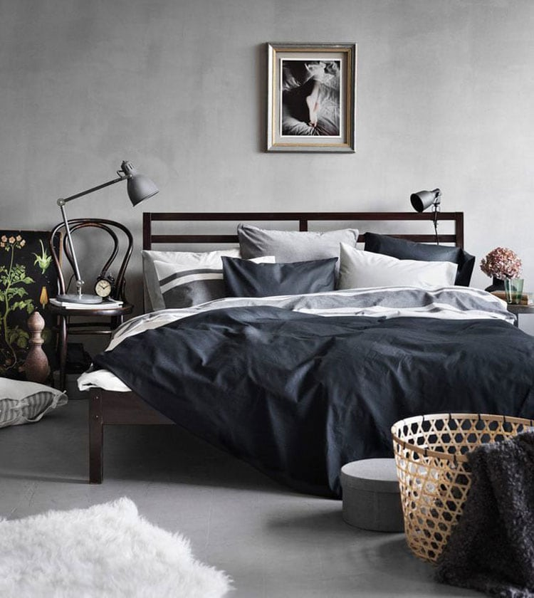 Grey Bedroom For Guys