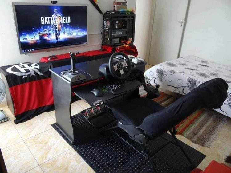 Hardcore Gamer Bedroom Designs with Gaming Chair