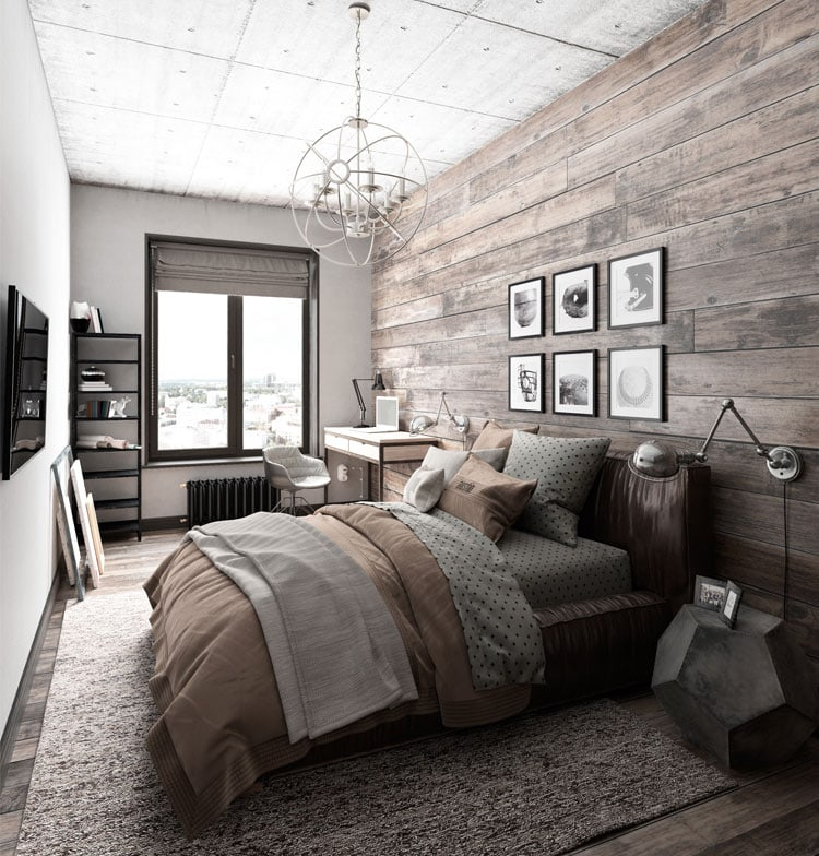 Modern Men's Bedroom Decor