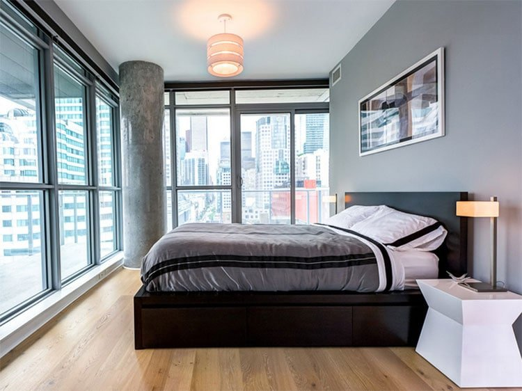 Simple Modern Man's Bedroom Ideas