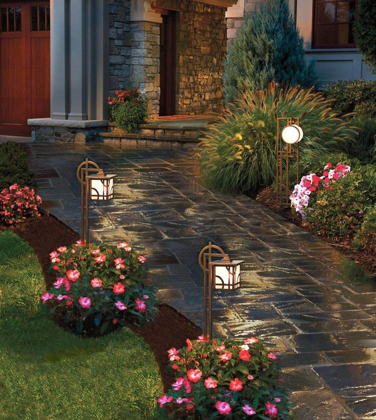Use Solar Lamps to Showcase Your Front Yard