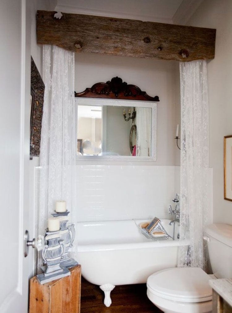 Vintage Rustic Bathroom Shower Ideas