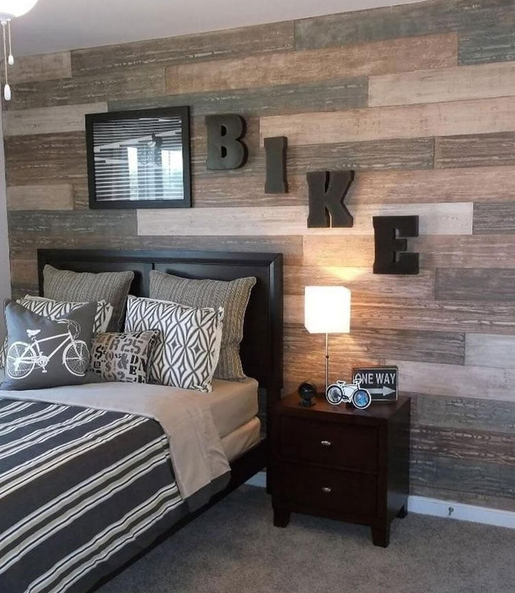 Amazing Boy Bedroom Idea with Wood Paneling