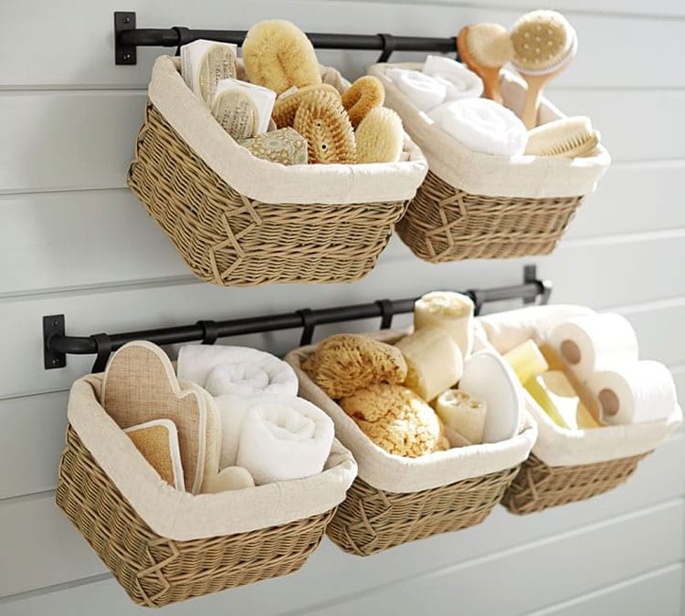 Basket Storage Ideas For Small Bathrooms