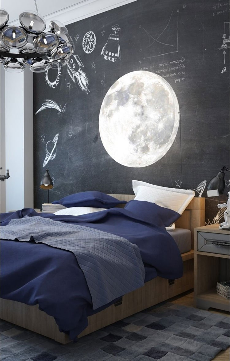Boy's Bedroom Idea with Chalkboard Wall Decor