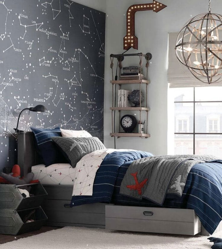 Awesome Boy's Bedroom Ideas with Fun Decorative Designs
