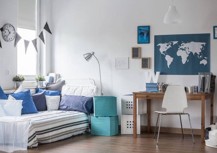 Breezy Tween Bedroom with Blue Accents