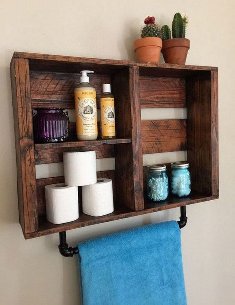 Cheap DIY Bathroom Storage Ideas