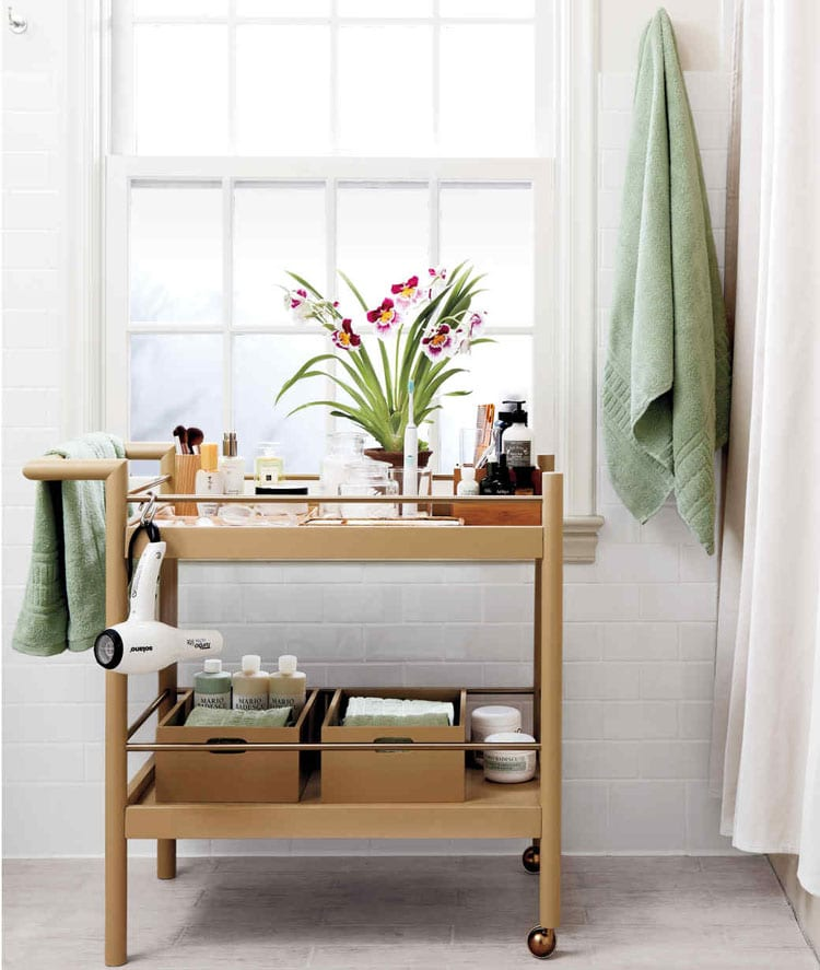 Chic Bathroom Storage Cart
