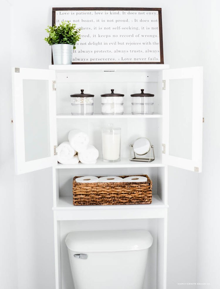 Clever Bathroom Cabinets and Shelves For Storage Space