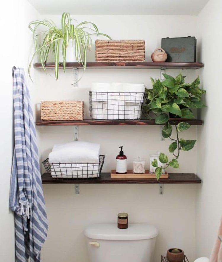 Clever Bathroom Shelves For Small Bathroom
