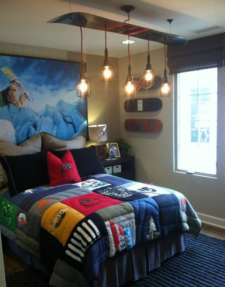 Creative Boys Room Design For Skateboarding Fans