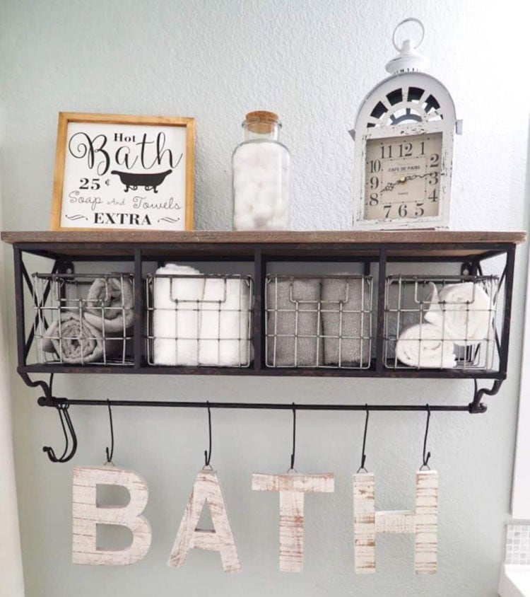 Creative DIY Bathroom Storage Shelving