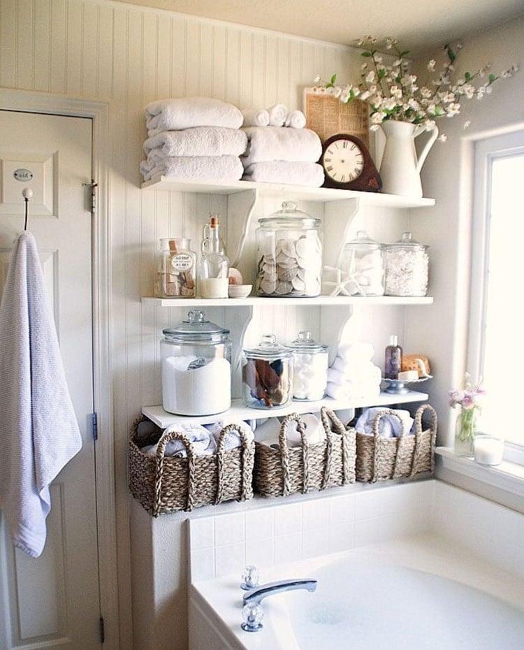 Creative Small Bathroom Shelf Ideas