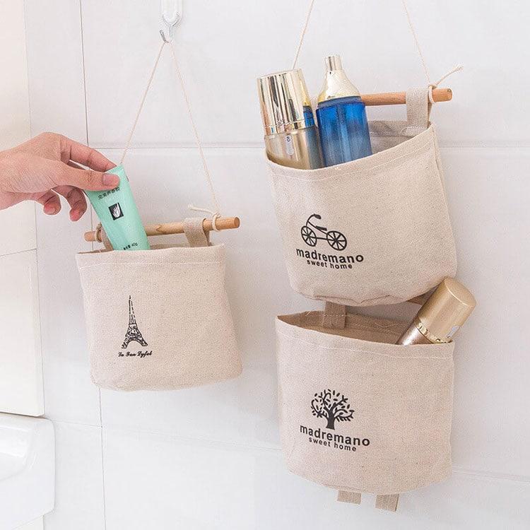 DIY Bathroom Storage Hanging Bags