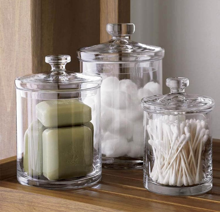 Display Elegant Glass Jars For Classy Storage
