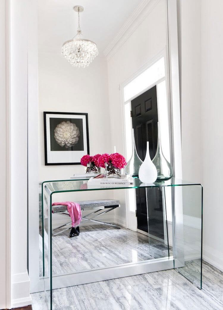 Glass Entry Table