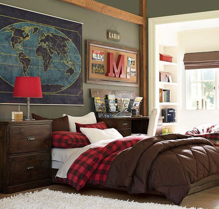 Modern Stylish Boys Bedroom Decor