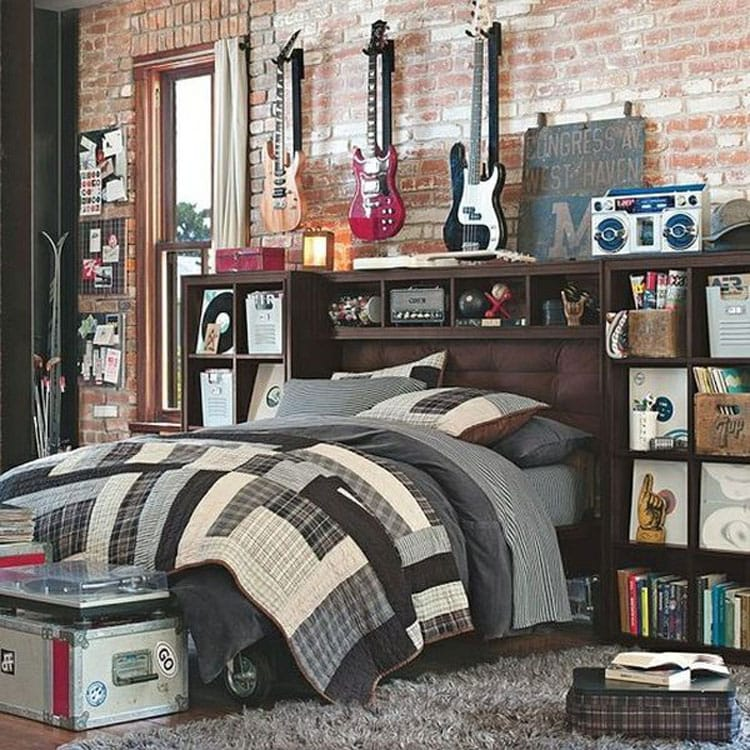 Modern and Stylish Teen Boy Room Decor for Artsy Musicians