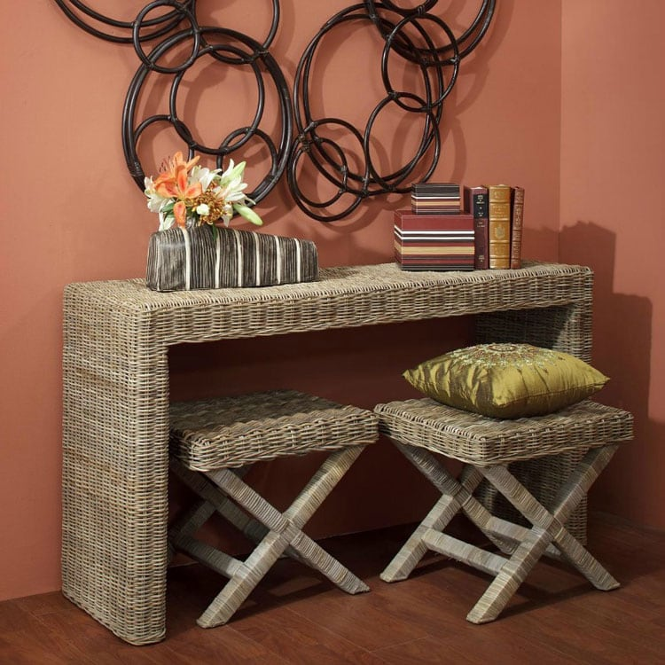 Narrow Entry Table with Small Chairs