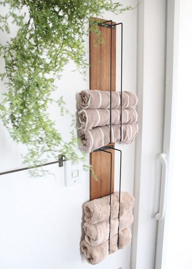 Narrow Storage Shelves for Small Bathrooms