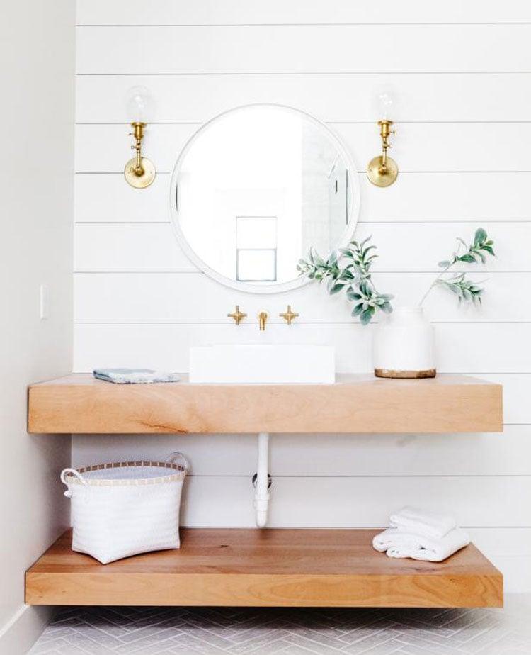 Open Bathroom Storage