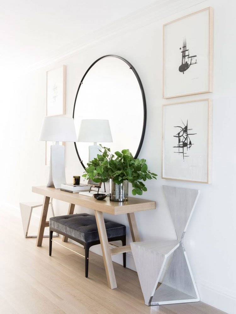 Simple Chic Small Foyer Table and Mirror Ideas