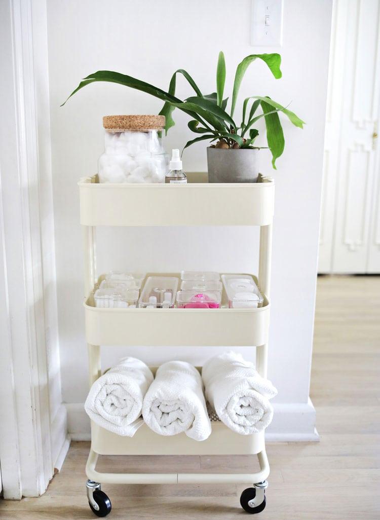 Simple Small Bathroom Storage