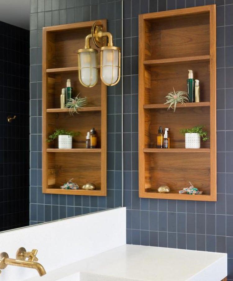 Small Bathroom Wall Shelving Designs